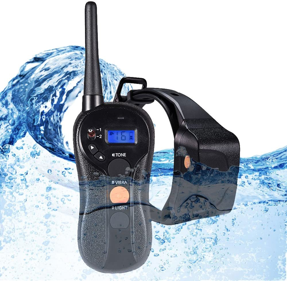 WOLFWILL Waterproof Rechargeable Humane Remote Dog Training Collar